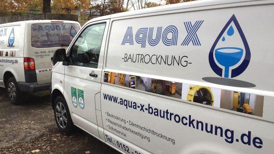 Aqua X Bautrocknung im Einsatz