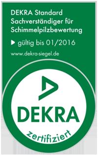 Dekra zertifiziert - Sachverständiger für Schimmelpilzbewertung